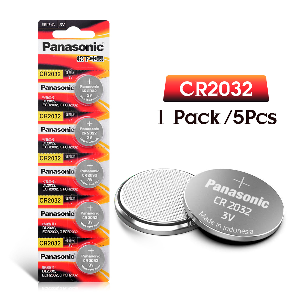 PANASONIC 5pcs 3v CR2032 CR 2032 Lithium Batteries Watch Pilas Button Coins Celula For Clock Computer Motherboard Calculator
