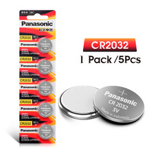 PANASONIC 5pcs 3v CR2032 CR 2032 Lithium Batteries Watch Pilas Button Coins Celula For Clock Computer Motherboard Calculator(China)