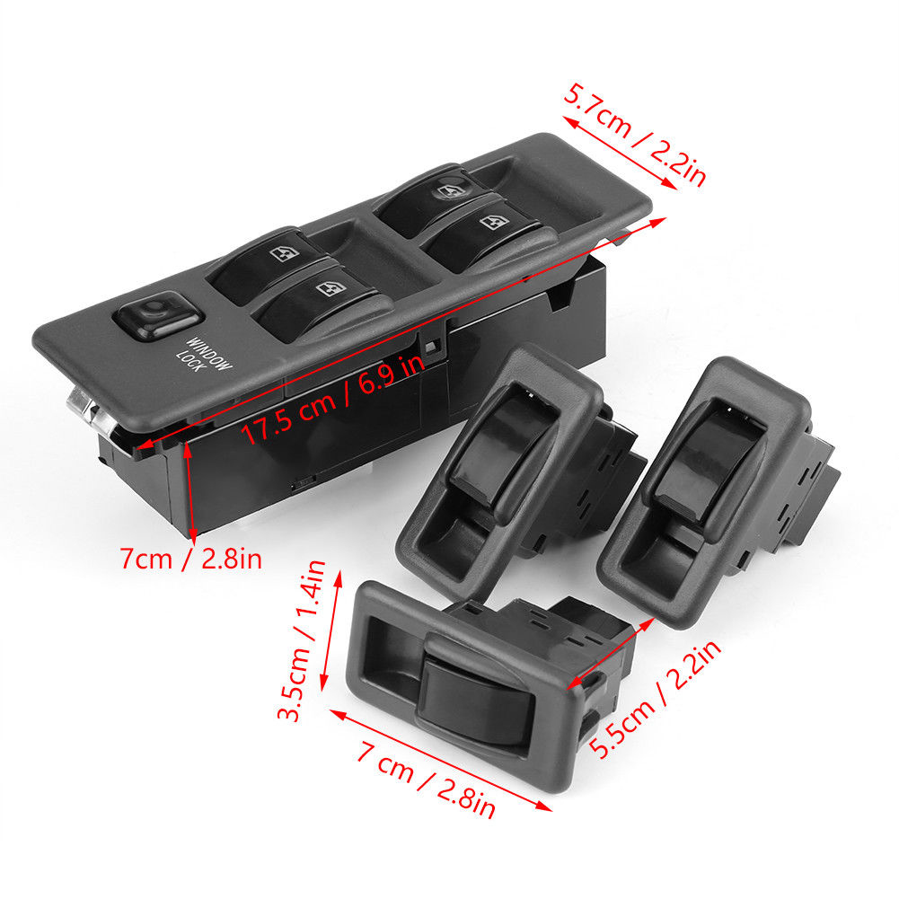 Master Window Control Switch for 2007 2008 2009 Toyota Camry Front Left