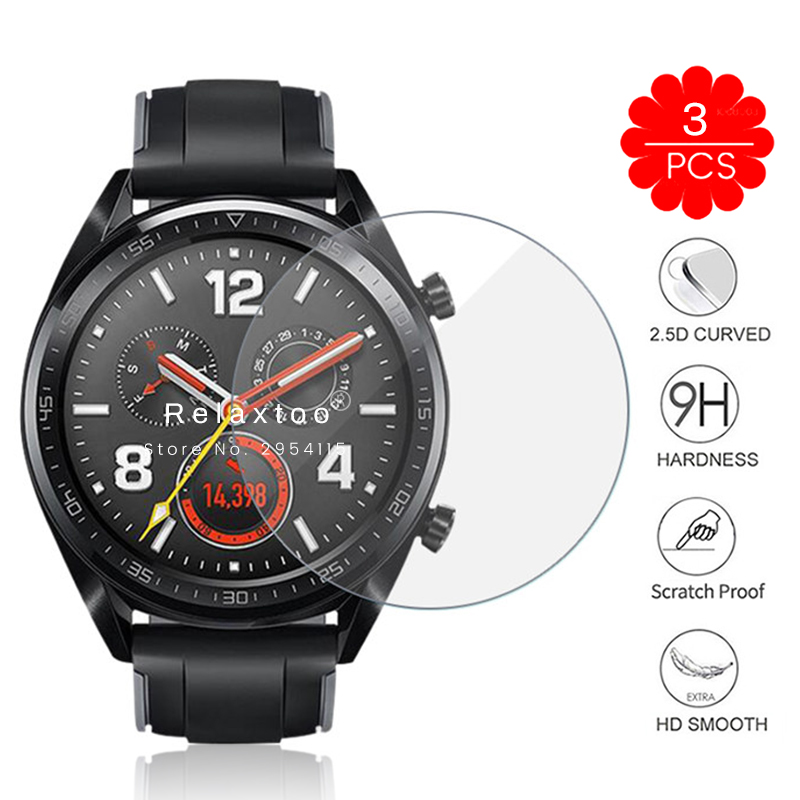 3pcs Gt2 Glass For Huawei Watch Gt 2 Protector Watch Gt2 2gt (46mm) Glass Screen Protective Glass On Hauwei Watch Gt Accessories