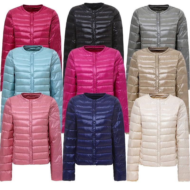 Light Ultra 2020 Down Jacket Women Autumn Winter Duck Down Coat Plus Size Long Sleeve Clothes Puffer Jacket KJ2702