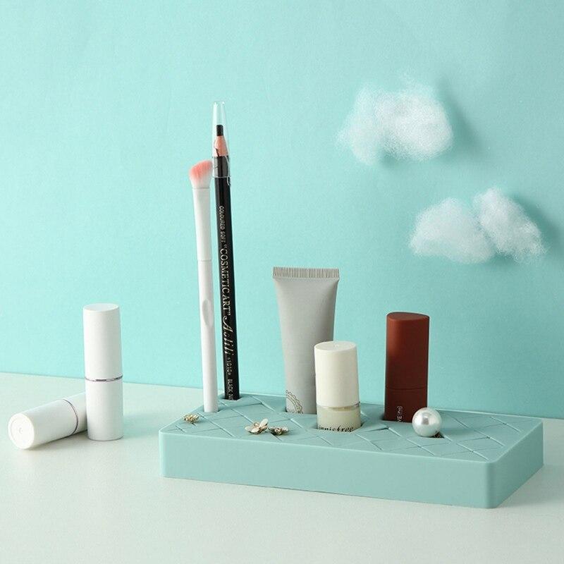 24-Grid Silicone Cosmetics Rack Innovative Display Makeup Organizer Shelf Storage Box For Cosmetics Lipstick Brushes