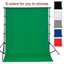 Fond de photographie toile de fond lisse mousseline coton vert écran Chromakey Cromakey fond tissu pour Photo Studio vidéo