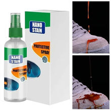 100ml Multi-Purposes Stain Protector Spray Nano Stain-proof Waterproof Spray for shoes clothes or fabric cleanup hot 7P(China)