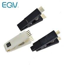 EQV программист тест ing Clip SOP8 SOP8 SOP 16 SOP SOIC 8 16 SOIC8 SOIC16 DIP8 DIP 8 Pin IC тестовый зажим