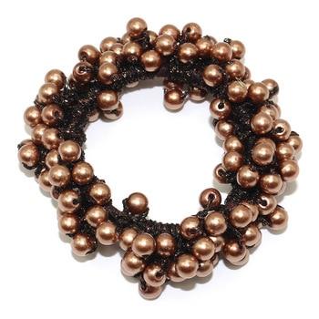 14 Colors Woman Elegant Pearl Hair Ties Beads Girls Scrunchies Rubber Bands Ponytail Holders Hair Accessories Elastic Hair Band 41