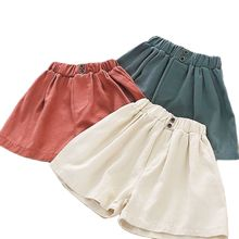 Baby Shorts Retro-Color Children's Summer Wear Casual-Pants Korean-Version P4277 All-Match