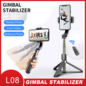 Proker Handheld Gimbal Stabilizer Mobile Phone Selfie Stick Holder Adjustable Selfie Stand For iPhone/Android L08