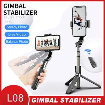 Proker Handheld Gimbal Stabilizer Mobile Phone Selfie Stick Holder Adjustable Selfie Stand For iPhone/Android L08