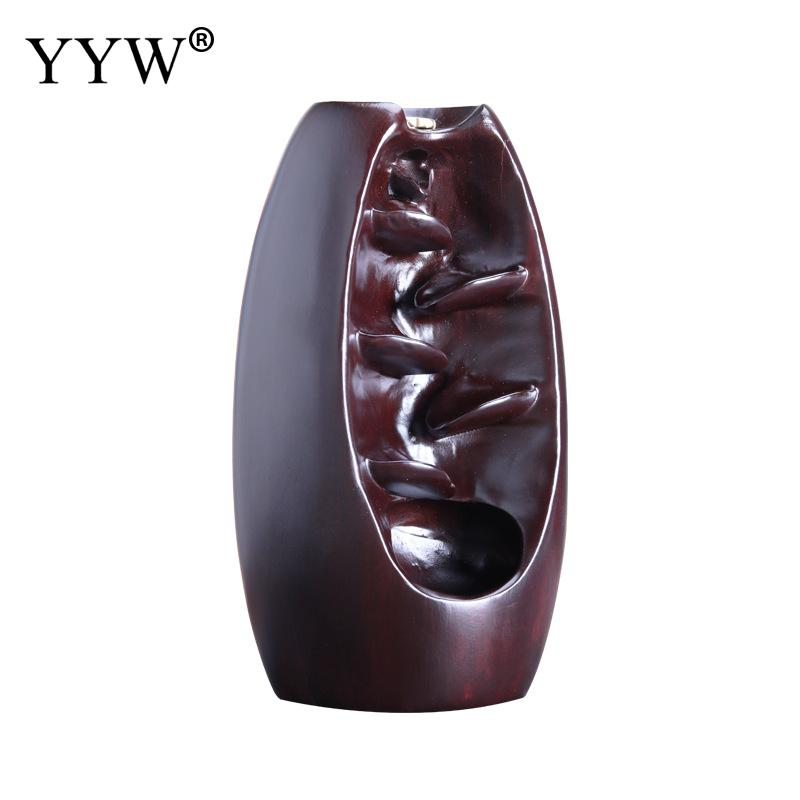 Mountain River Handicraft Incense Holder Backflow Waterfall Smoke Incense Burner Portable Porcelain Censer 10pcs Free Cones in Incense Incense Burners from Home Garden