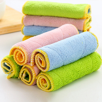 Soft Microfiber Towel Anti-grease Kitchen Cleaning Towel Washing Towel Cleaning Wiping Rug Water Absorption Car Washing Cloth image