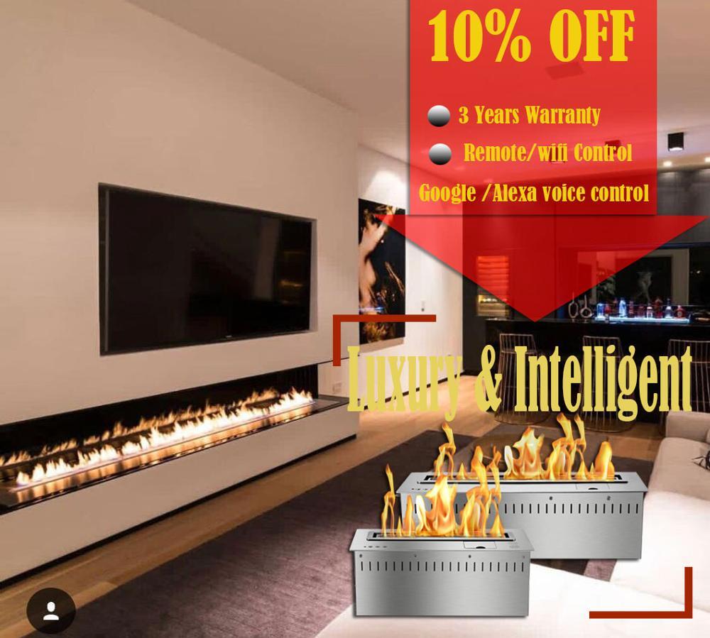 Inno Living 24 Inch Luxury Alcohol Fireplaces Modern Remote Ethanol Burner Insert