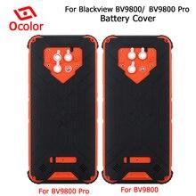 Ocolor ل Blackview Bv9800 غطاء البطارية Bateria الغطاء الخلفي استبدال 6.3 ل Blackview Bv9800 برو ملحقات الهاتف المحمول