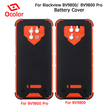 ocolor For Blackview Bv9800 Battery Cover Bateria Back Cover Replacement 6.3 For Blackview Bv9800 Pro Mobile Phone Accessories