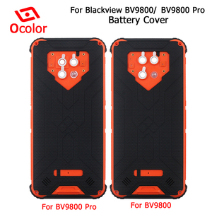 Image 1 - ocolor For Blackview Bv9800 Battery Cover Bateria Back Cover Replacement 6.3 For Blackview Bv9800 Pro Mobile Phone Accessories