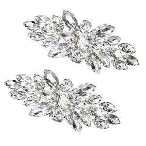 2pcs Shoe Clip Wedding Shoes High Heel Women Bride Decoration Rhinestone Shiny Decorative Clips Charm Buckle N58F