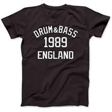 T-Shirt 2019 coton pour tambour et basse, haut 1989 Premium, 100%