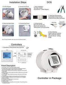 Image 5 - 6นิ้วจับเวลาExtractorพัดลมอินไลน์Smart Switch ControllerสำหรับHome KitchenระบายอากาศเรือนกระจกVentilator 220 ~ 240V
