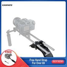 Épaulière universelle en mousse pour caméra CAMVATE avec pince à double tige de 15mm pour caméra DSLR, système de Support dépaule de 15mm