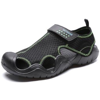 2020 Summer New Mens Sandals Swiftwater Mesh Deck Lightweight Beach Sandals Fisherman Shoes For Men Outdoor Shoe сабо kids swiftwater clog