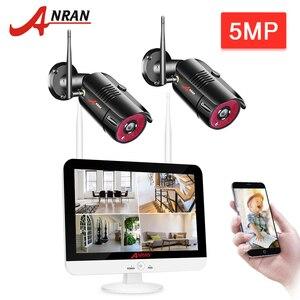 Камера видеонаблюдения ANRAN, беспроводная камера безопасности, 2 канала, 5 МП, NVR, водонепроницаемая, P2P
