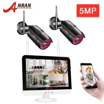 ANRAN 2CH 5MP Wireless NVR Security Camera System Outdoor IR-CUT CCTV Video Surveillance Video Recorder Kit Waterproof P2P APP
