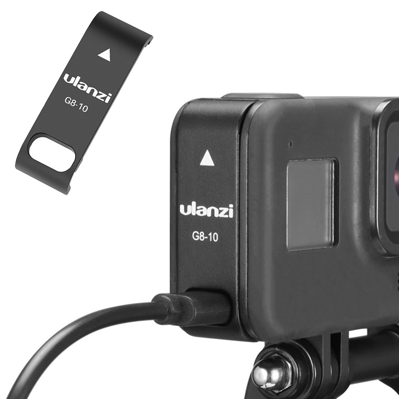 Ulanzi G8-10 GoPro8 Battery Cover Rechargeable Port Design Type-C Charging Protective Shell For GoPro Hero8 Sports Accessories