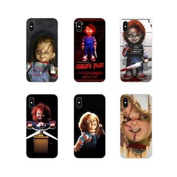 Funda de silicona para iPhone X de Apple XR XS 11Pro MAX 4S 5S 5C SE 6 6S 7 7 Plus ipod touch 5 6 película de terror Chucky niño jugar Flexible