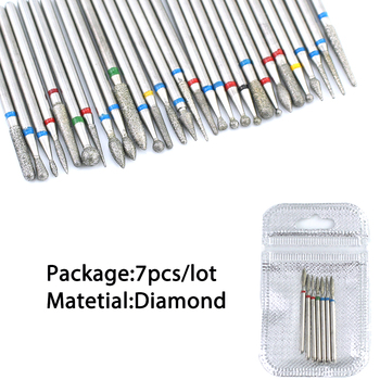 5/6/7 Diamond Nail Drill Bits Milling Cutter Set Cutters Manicure Silicon Stone Pedicure Electric for Mill Manicure Machine 4