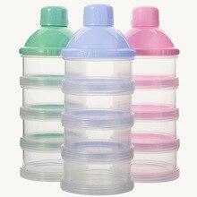 Младенцы четырехслойная съемная коробка для молока рисовый порошок коробка для хранения конфет емкость для порошка молока коробка контейнер для молока оптом