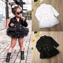 Детская одежда для малышей; нарядное кружевное платье с длинными рукавами для маленьких девочек; юбка; одежда для отдыха; повседневный костюм; платье