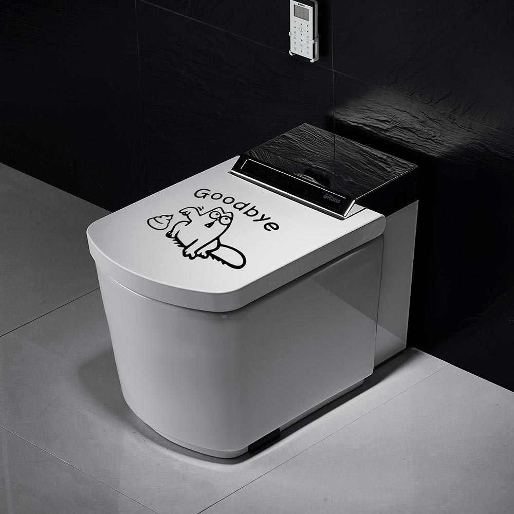 Autocollants muraux de salle de bains, Stickers muraux amovibles, décoration pour la maison, autocollant pour toilettes, décoration d'intérieur, Art Mural, pâte décorative, 1 pièce