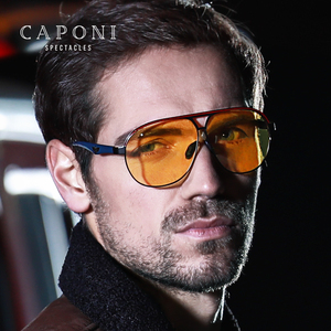 Image 2 - CAPONI الفاخرة مصمم النظارات الشمسية الرجال فوتوكروميك موضة القيادة نظارات الذكور الاستقطاب البني الرجال نظارات شمسية UV400 BSYS8606