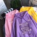 Свитшот женский с принтом дракона, винтажный худи в стиле Харадзюку, милая уличная одежда оверсайз в стиле хип-хоп, свободная повседневная о...