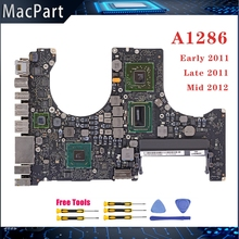 Placa base A1286 Original probada, 820-2915-A/B 820-3330-B para MacBook Pro, placa lógica de 15