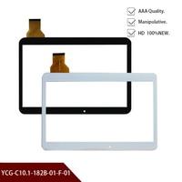 Nuevo Original A + blanco o black10.1 pulgadas tableta digitalizador vidrio YCG-C10.1-182B-01-F-01 tableta pantalla táctil panel envío gratis