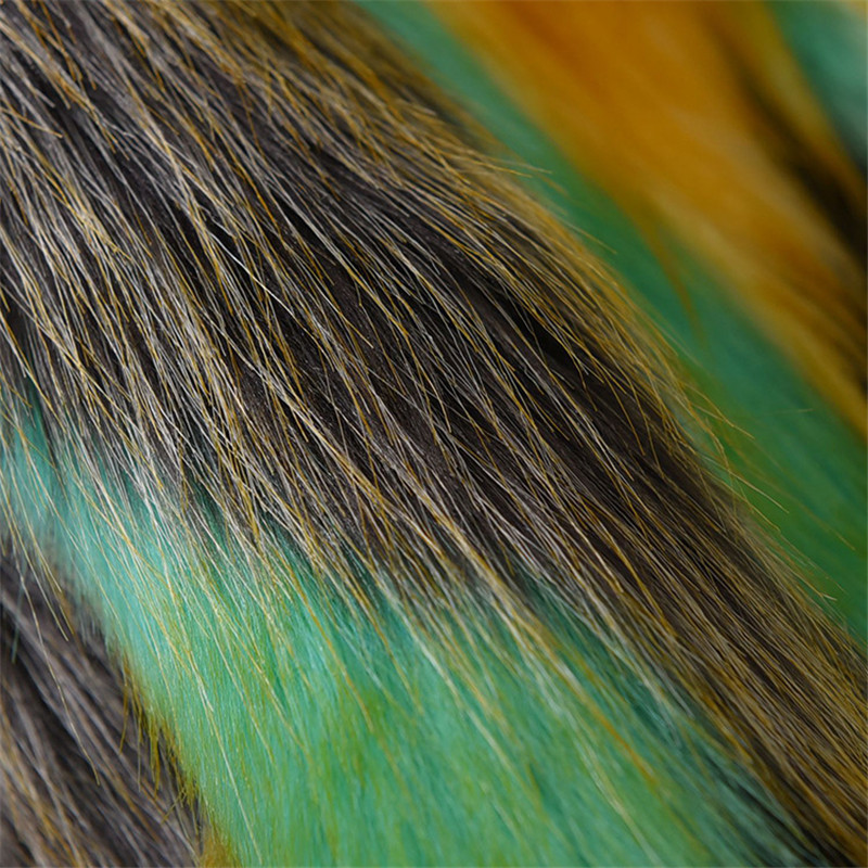 Focal20 Elegant Furry Fur Coat Women Fluffy Warm Hit Color Long Sleeve Female Outerwear Autumn Winter Coat Jacket Hairy Overcoat 1