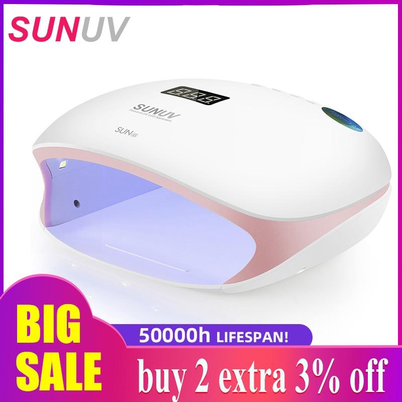 SUNUV SUN4S/4 Nail Lamp 48W UV LED Nail Dryer for Curing Gels Polish With Smart Sensor Manicure Nail Art Salon Equipment Brand