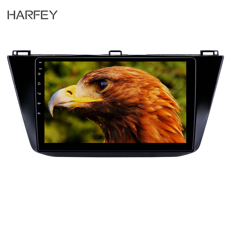 Harfey Car 9 HD 2Din Android 8.1 Stereo Radio GPS for VW Volkswagen Tiguan 2016 2017 2018 Multimedia Player with Bluetooth USB image