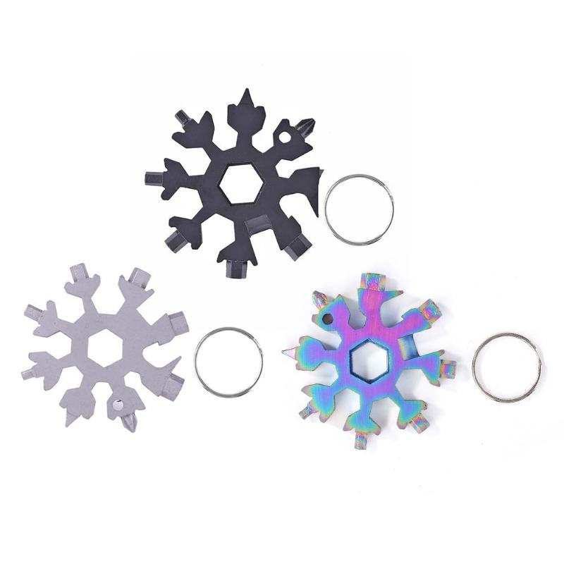 Stainless Steel Combination Screwdriver EDC Tool Folding Snowflake Multi Tools Durable Wear-resistant And Workmanship