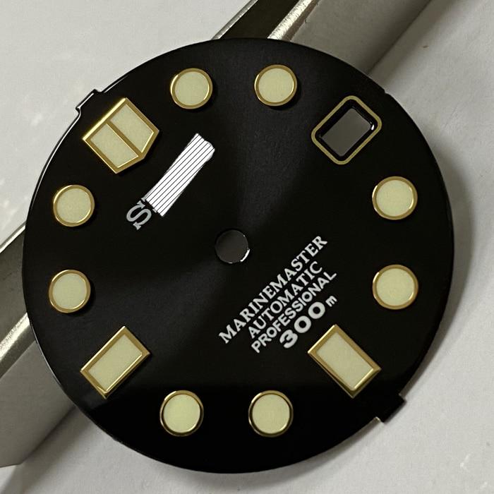 marcas luminosas relógio de mergulho dial para nh35 movimento automático