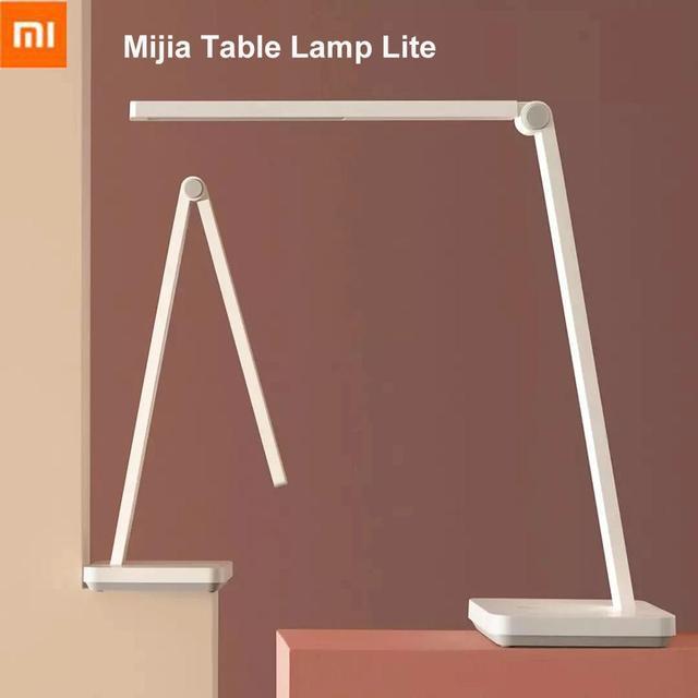 Lampa stołowa Xiaomi Mijia Lite inteligentna lampa biurkowa Mi LED ochrona oczu 4000K 500 lumenów ściemnianie przenośne składane światło nocne
