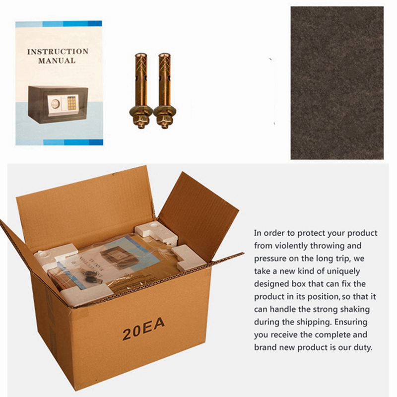 Mini Safety Box Drop Cash Safe Box 6