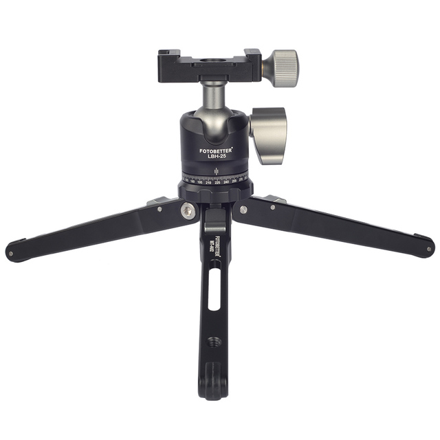 FOTOBETTER MTA02 קומפקטי נייד מתקפל אלומיניום שולחן חצובה מאקרו מיני חצובה ערכת עם פנורמי נמוך פרופיל כדור ראש