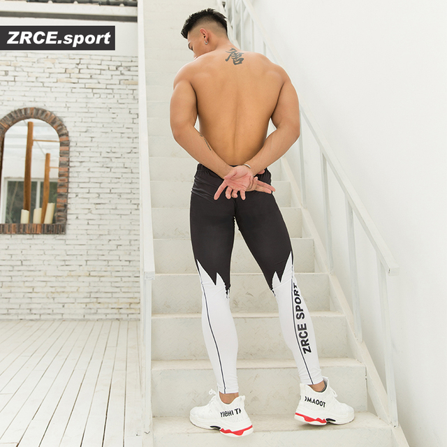 ZRCE Male Compression Tight Leggings Lightweight Quick-drying Elastic Gym Fitness Jogging Pants Workout Training Yoga Bottoms 30