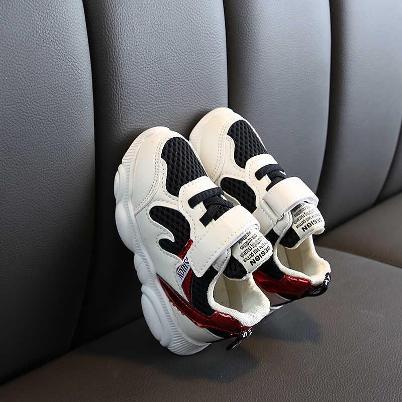 Zapatos de niños deportivos zapatos de niños para correr zapatillas de colores mixtos malla transpirable niños niñas calzado suave inferior SJ008