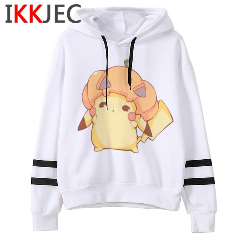 Pokemon Go Funny Cartoon Warm Hoodies Men/women Cute Pikachu Japanese Anime Sweatshirts Fashion 90s Steetwear Hoody Male/female 19