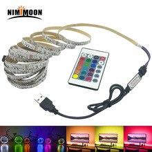 5 в RGB Светодиодная лента 5 В USB Светодиодная лента светильник ТВ ПОДСВЕТКА 2835 1-5 м Настольный светильник ing лента Диодная лента
