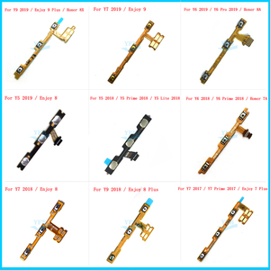 For Huawei Honor 7A 8A Y9 Y7 Y6 Pro Y5 Prime Lite Enjoy 7 8 9 Plus 2017 2018 2019 Power On Off Button Volume Switch Key Flex