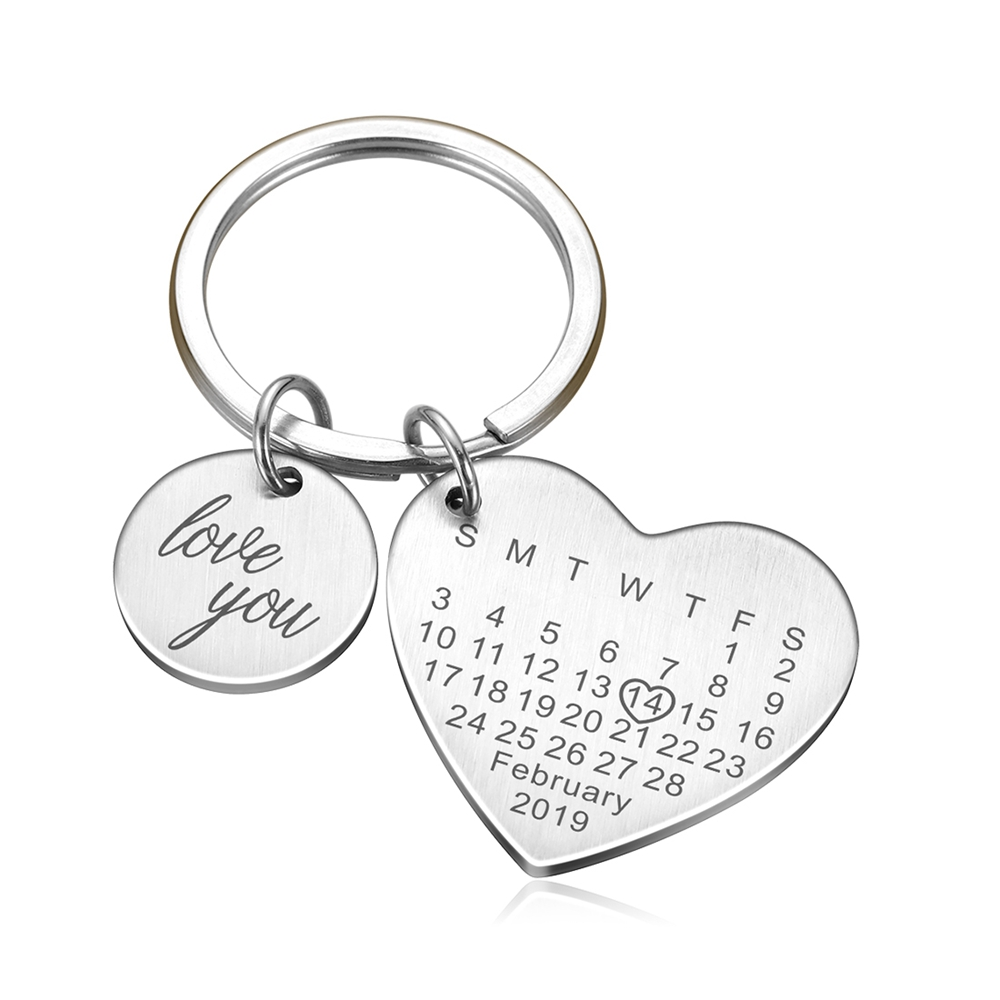 Christmas Gift for Boyfriend Anniversary Gift Couple Keychains Customized Keychains Choose Date Keychains with Date Personalized Gift